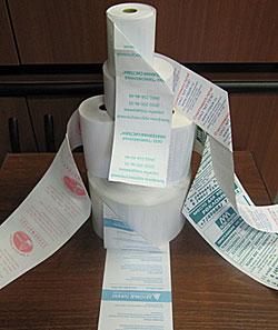 чековая лента с печатью